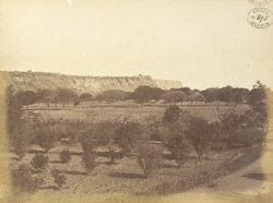 Distant view of east face of Gwalior Fort